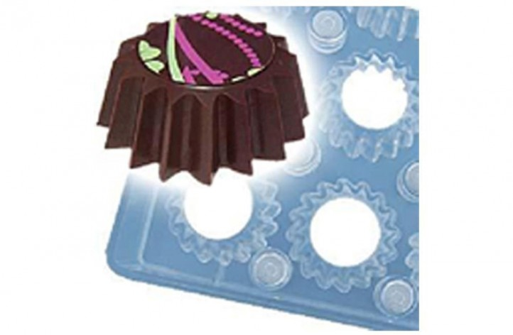chocolate spiky cup magnetic mould